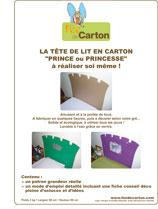 patron tete de lit prince ou princesse en carton. Black Bedroom Furniture Sets. Home Design Ideas