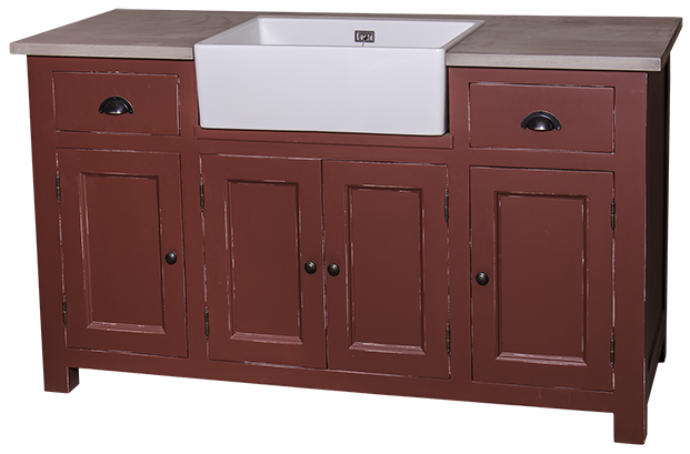 meuble sous vier 2 tiroirs 4 portes 39 39 rocamadour 39 39 en bois massif comparer les prix de meuble. Black Bedroom Furniture Sets. Home Design Ideas