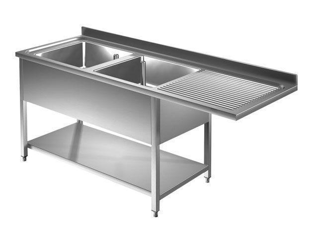 plonge passage lave vaiselle profondeur 600 700 mm plonge lave vaisselle 2 bacs a gauche 9m5039. Black Bedroom Furniture Sets. Home Design Ideas