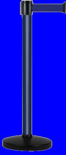 Poteau alu bleu laqué à sangle bleu 3m x 50mm sur socle portable - 2010337