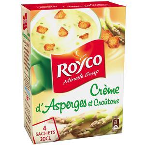 ROYCO MINUTE SOUP' CRÈME D'ASPERGES ET CROUTONS 4 SACHETS 94 G
