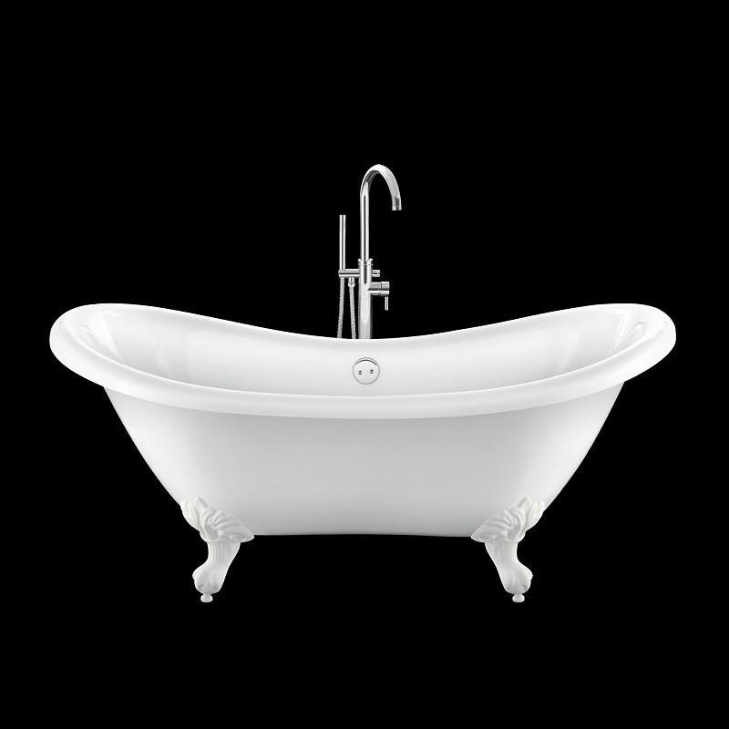 baignoire lot r tro darlington 175 blanche avec pattes d 39 aigle blanches comparer les prix de. Black Bedroom Furniture Sets. Home Design Ideas