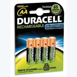 DURACELL BLISTER DE 4 ACCUS AA/HR6 RECHARGEABLES ACTIVE CHARGE 4087828 + CCR