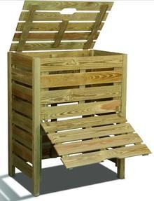 bac a compost en bois 400 litres. Black Bedroom Furniture Sets. Home Design Ideas