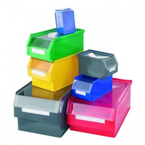 Bac à bec plastique gerbable ultrarésistant. p290xl140xh130mm. coloris jaune