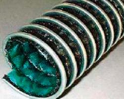 Gaine flexible et légère en tissu de verre enduit hypalon spirale acier