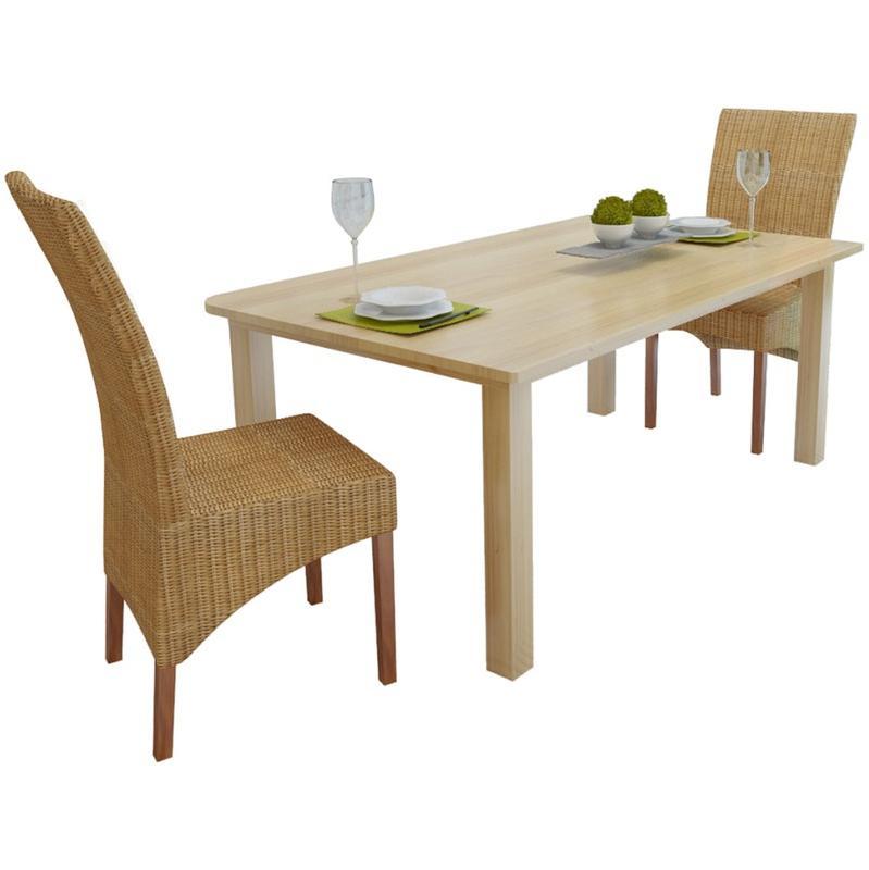 Chaises pour salles manger comparez les prix pour for Salle a manger en rotin pour veranda