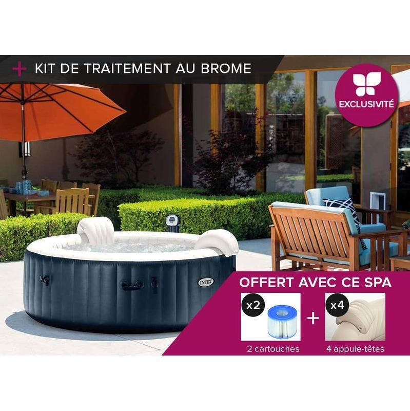 spa gonflable intex purespa jets et bulles octogonal cool awesome spa complet kit spa spa. Black Bedroom Furniture Sets. Home Design Ideas