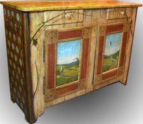 bas de buffet louis philippe meubles peints. Black Bedroom Furniture Sets. Home Design Ideas