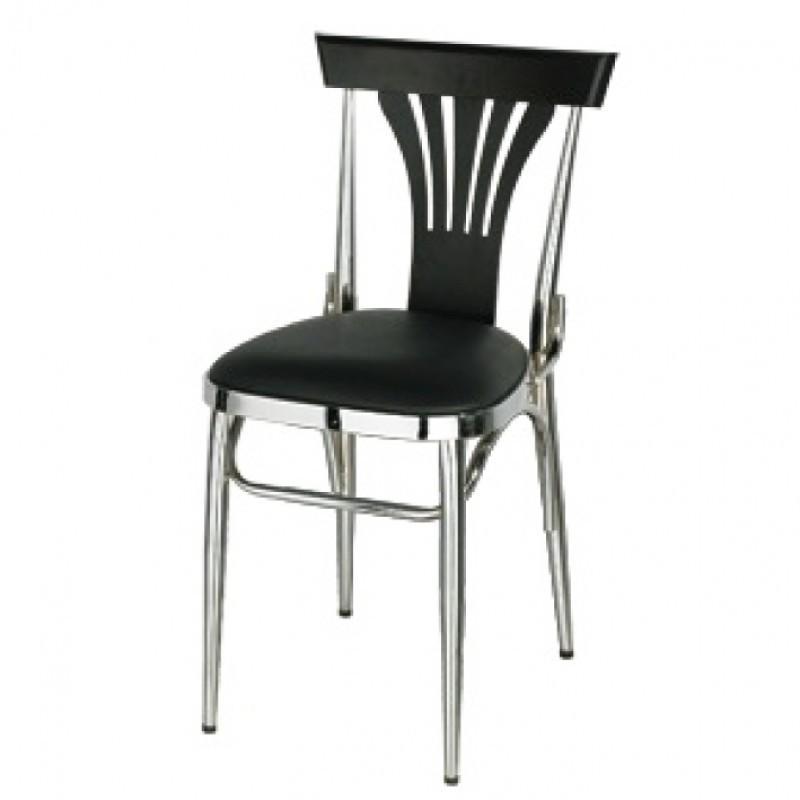 chaise chrom m tal noir comparer les prix de chaise chrom m tal noir sur. Black Bedroom Furniture Sets. Home Design Ideas