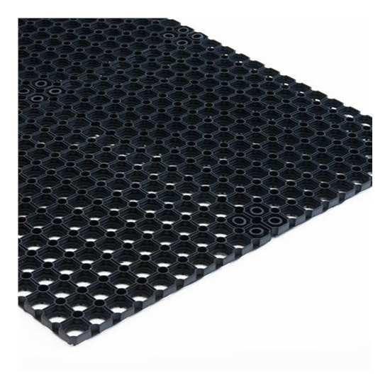 Tapis caillebotis noir 100x150cm 3m for Tapis caillebotis caoutchouc exterieur