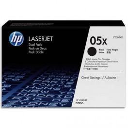 HP 2 CARTOUCHES LASER NOIR CE505XD