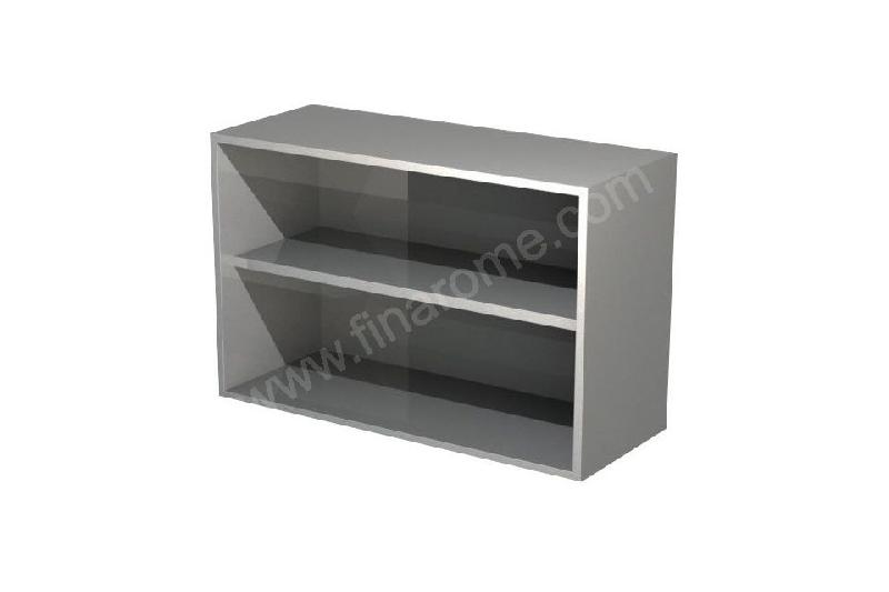 Placard mural inox ouvert 400 x 1600 mm comparer les prix for Placard cuisine inox