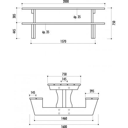 Table pique nique bois pin for Plan table bois