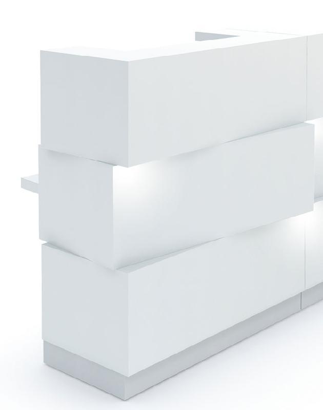 zen comptoir d 39 accueil avec tiroir l114 cm blanc. Black Bedroom Furniture Sets. Home Design Ideas