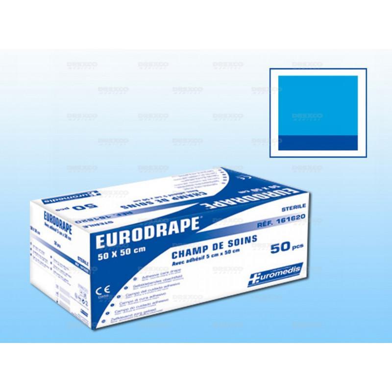 Champs de soins stériles simple avec adhesif - lot de 3 -     50 x 70 cm