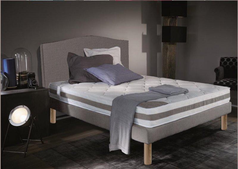 ensemble de lit round 90 190 cm pieds woody large choix de coloris. Black Bedroom Furniture Sets. Home Design Ideas