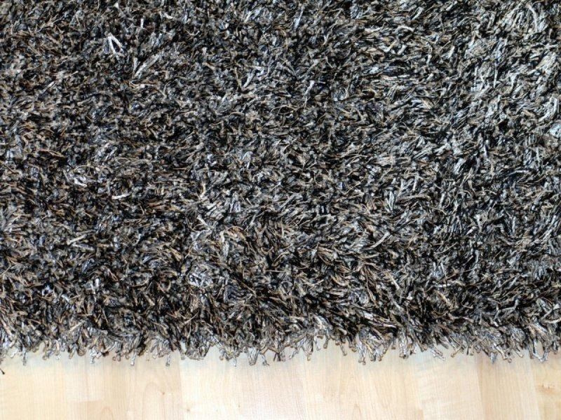 feeling tapis epais gris fonce 120x180 cm. Black Bedroom Furniture Sets. Home Design Ideas