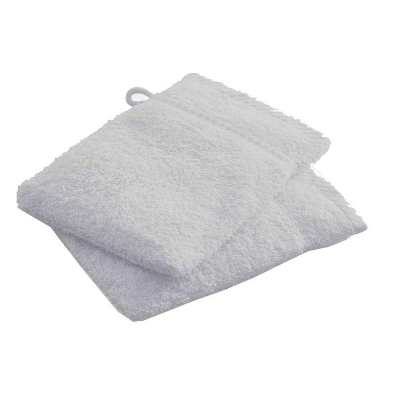 Lot de 2 gants de toilette today zinc 16x21cm - paris prix