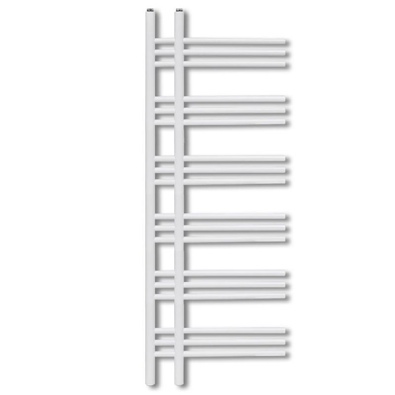 Radiateur chauffage central sèche-serviettes circulation d\'eau chaude hauteur 140 cm salle de bain blanc 3202036