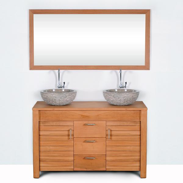Mobiliers de salle de bain comparez les prix pour for Meuble salle de bain 120 cm portes