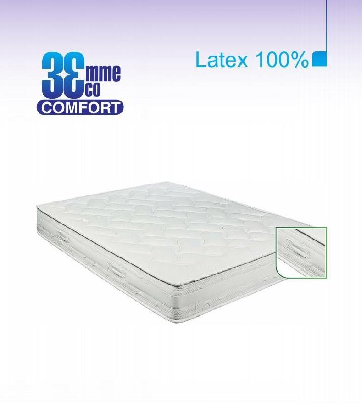 Matelas eco confort 100 latex 7 zones 160 200 20 - Matelas latex 160 200 ...