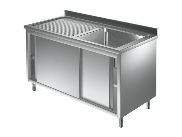 plonge inox avec meuble profondeur 600 700 mm plonge sur meuble 1 bac a droite 9m6067. Black Bedroom Furniture Sets. Home Design Ideas