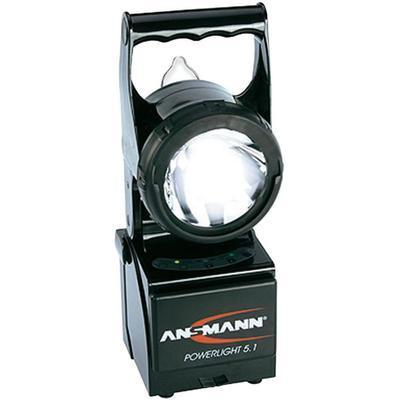 LAMPE TORCHE SANS FIL ANSMANN 5802082/510 NOIR LED LUXEON 1 W · HALOGÈNE XÉNON 5 W 1650 G