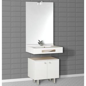 Creazur ensemble meuble salle de bain miroir vasque lea for Meuble salle de bain miroir