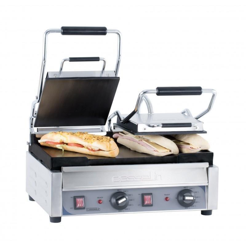 grill panini double premium lisse lisse professionnel. Black Bedroom Furniture Sets. Home Design Ideas