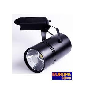 Projecteur led 10w interieur noir 4000k europalamp for Projecteur led interieur