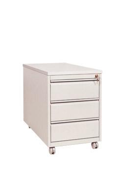 Caisson de bureau roulant 1 grand et 1 petit tiroirs for Petit caisson a tiroir