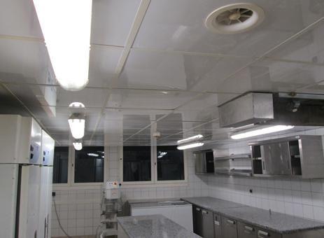 Dalle de faux plafond pvc alvéolaire pour cuisine professionnelle