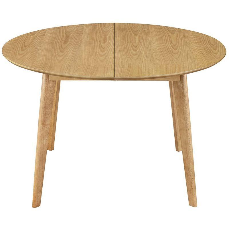 Table Ronde Extensible Suzie Chêne Clair: Table à Manger à Rallonge
