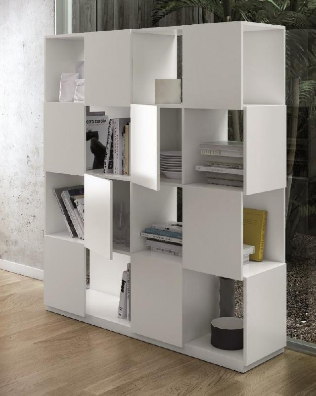 branch etagere bibliotheque design temahome laquee blanc mat. Black Bedroom Furniture Sets. Home Design Ideas
