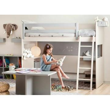 lit pour enfant mezzanine enfant liso 163 de asoral. Black Bedroom Furniture Sets. Home Design Ideas