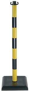 Poteau PVC Jaune/Noir sur socle lesté 3kg - 1000018