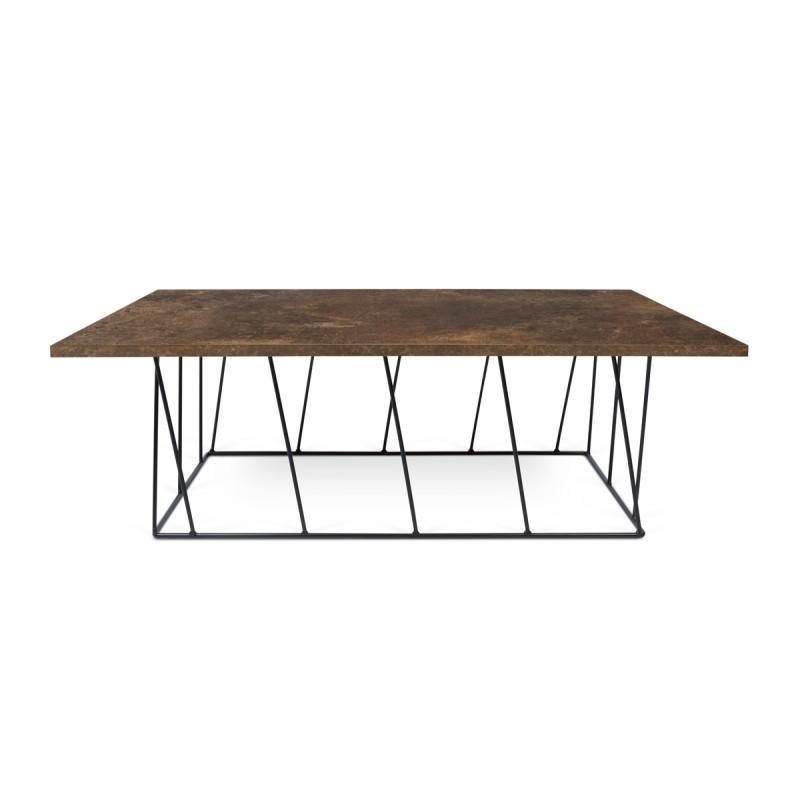 120cm noir table rouillemétal basse helix Temahome sCBhdtQrx