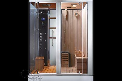 douche sauna hammam 39 meranda 180 39. Black Bedroom Furniture Sets. Home Design Ideas