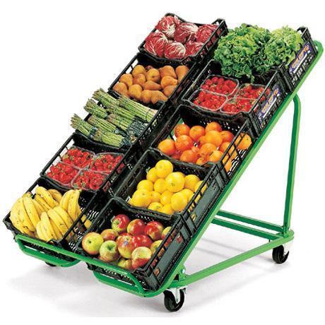 Pr sentoir mobile fruits et l gumes comparer les prix de - Presentoir fruits et legumes ...
