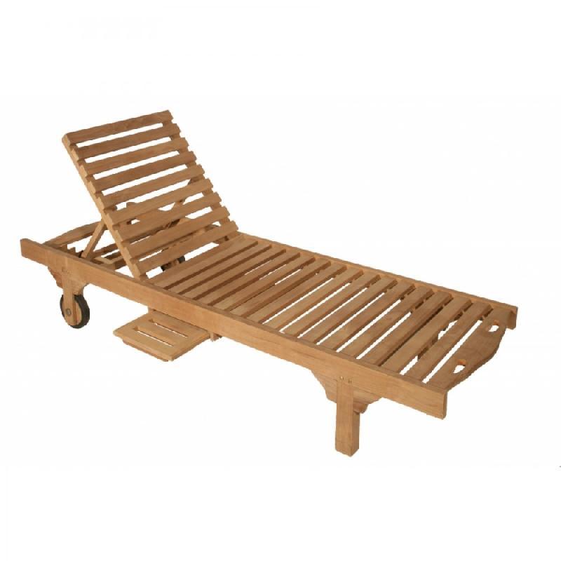 Chaise de jardin bain de soleir sunrise en teck