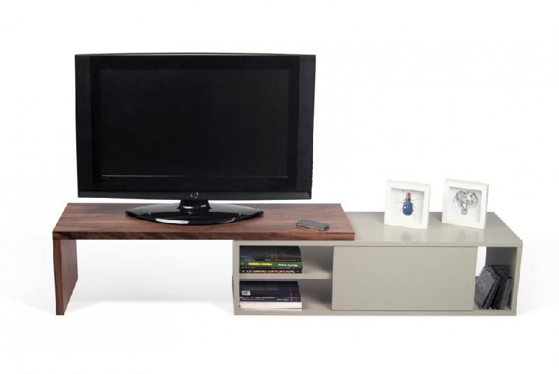 move meuble tv modulable noyer et gris avec1 porte. Black Bedroom Furniture Sets. Home Design Ideas