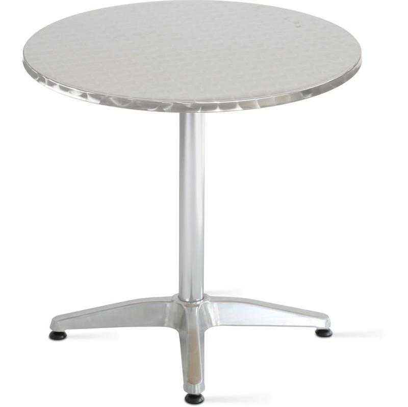TABLE DE JARDIN BISTRO CARRÉE EN MÉTAL - ROUGE - OVIALA Comparer les ...
