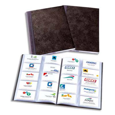 ALBUM ELÉGANCE POUR CARTES DE VISITES - FORMAT 30,7X23 CM - POUR 400 CARTES DE VISITE - NOIR