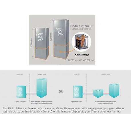 ballon d 39 eau chaude sanitaire 200l altherma haute temperature. Black Bedroom Furniture Sets. Home Design Ideas