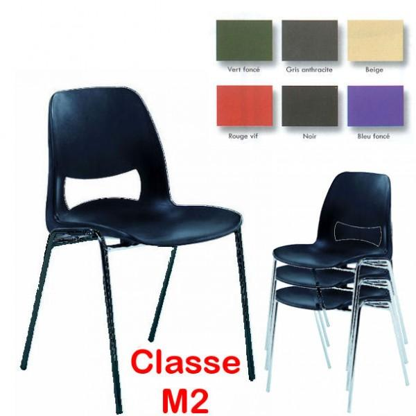 Chaise Coque Design Pieds Noirs M2