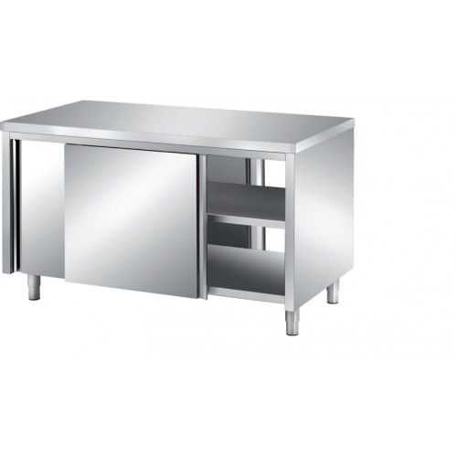 meuble bas central traversant inox ferritique profondeur 700 mm. Black Bedroom Furniture Sets. Home Design Ideas