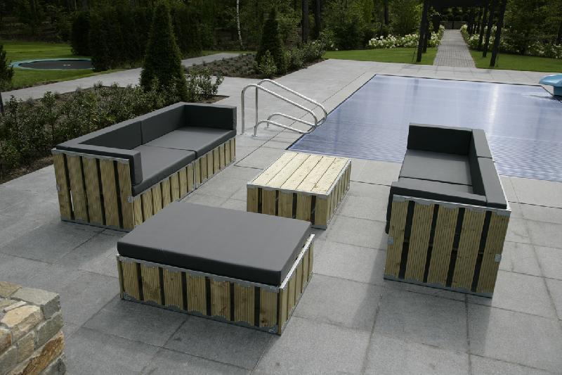 Concept box salon extérieur résistant