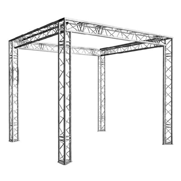 Location pont lumière aluminium carré