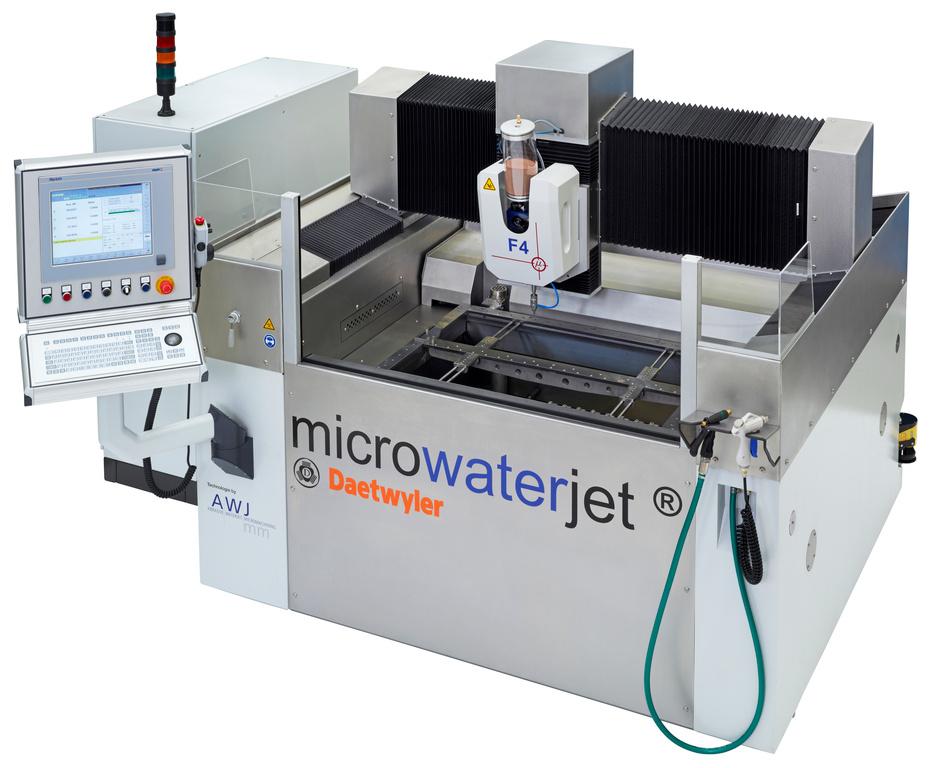 Machine micro-découpe jet d'eau microwaterjet f4